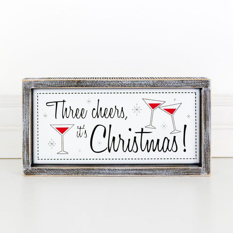 Holiday Wood Framed Signs ~ Cheers - Cece & Me - Home and Gifts