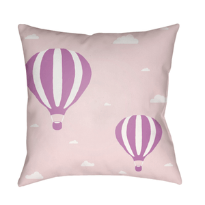 Hot Air Pillow ~ Pink/Lilac - Cece & Me - Home and Gifts