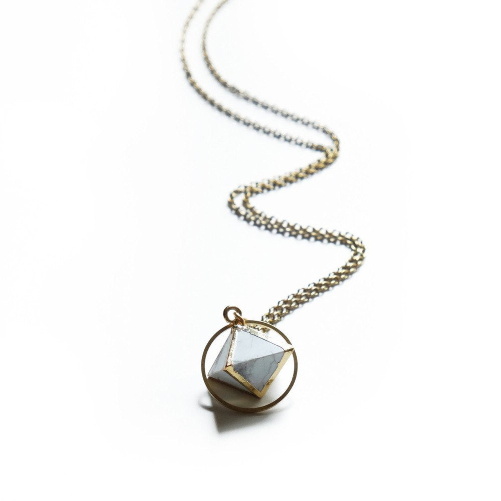 Howlite Orb Necklace - Cece & Me - Home and Gifts
