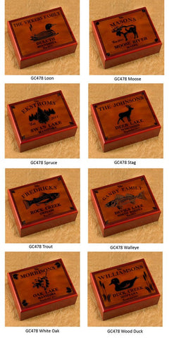 Image of Cabin Series Humidor ~ Trout - Cece & Me - Home and Gifts