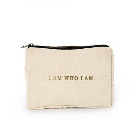I Am Who I Am Canvas Pouch ~ Peach - Cece & Me - Home and Gifts
