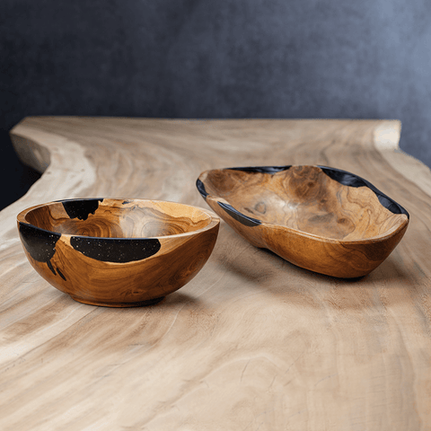 Kenya Teakwood Bowl - Organic - Cece & Me - Home and Gifts