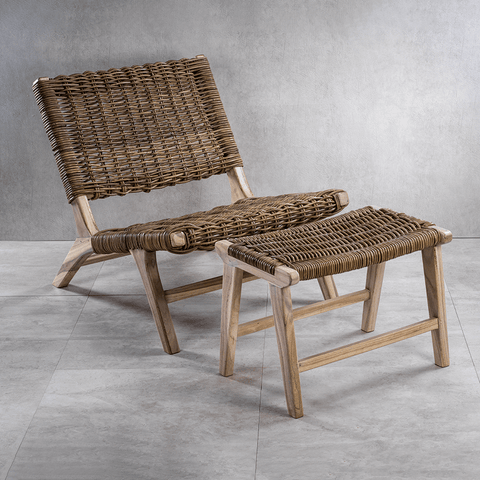 Mannabay Rattan Stool - Cece & Me - Home and Gifts