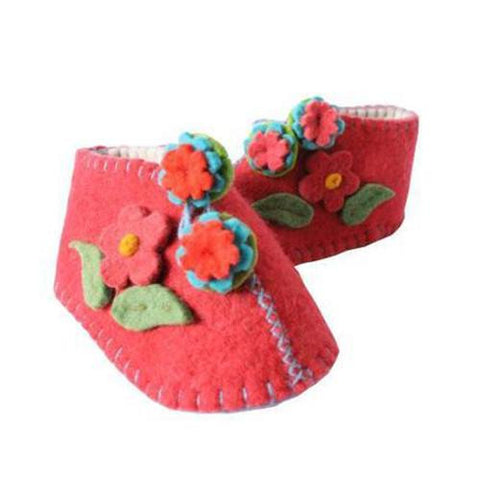 Baby Booties (6-12 mo.) ~ Red - Cece & Me - Home and Gifts
