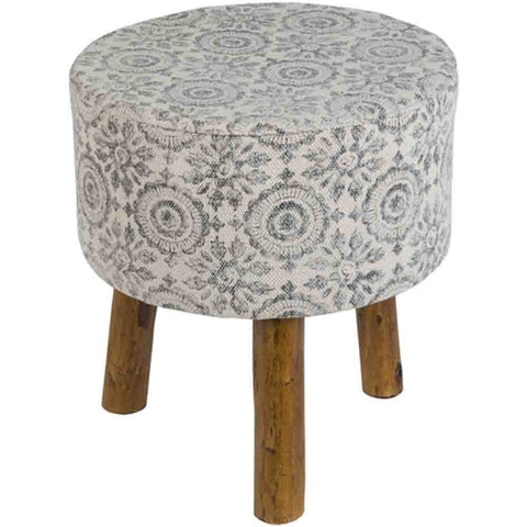 Indore Stool ~ Charcoal - Cece & Me - Home and Gifts