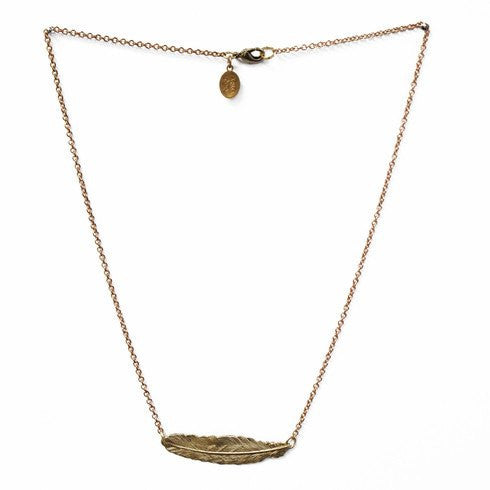 In Fine Feather Necklace ~ Brass - Cece & Me - Home and Gifts