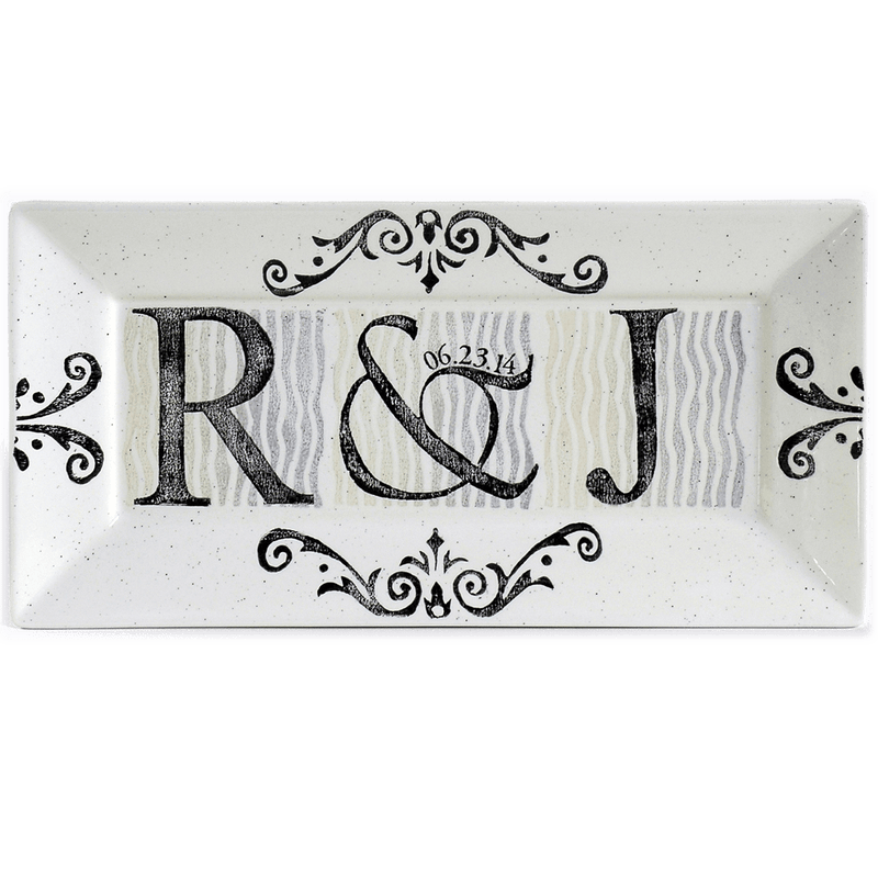Personalized Initial Wedding Rectangle Platter - Cece & Me - Home and Gifts