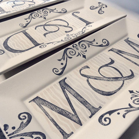 Image of Personalized Initial Wedding Rectangle Platter - Cece & Me - Home and Gifts