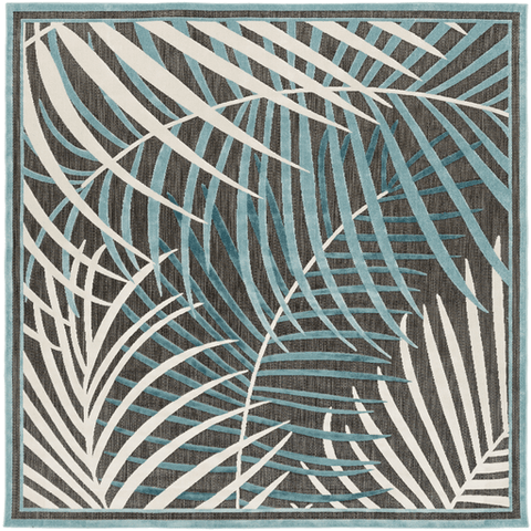 Interrupted Outdoor Rug ~ Teal/Aqua/Ivory - Cece & Me - Home and Gifts