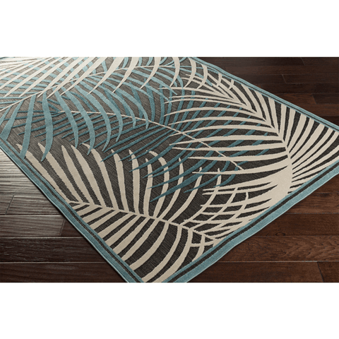 Image of Interrupted Outdoor Rug ~ Teal/Aqua/Ivory - Cece & Me - Home and Gifts