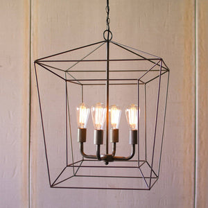 Iron Bar Pendant Light ~ Square - Cece & Me - Home and Gifts