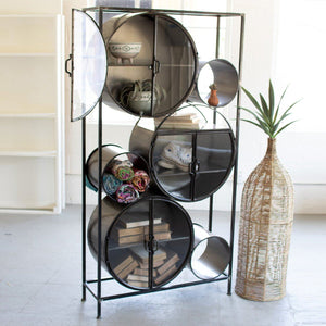 Iron & Glass Circles Shelving Unit - Cece & Me - Home and Gifts