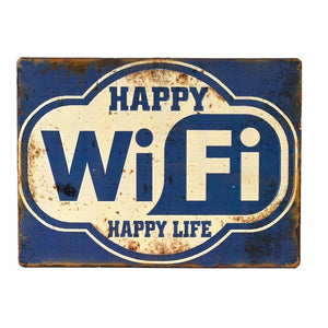 Iron Sign Happy Wifi - Cece & Me - Home and Gifts