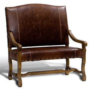 Leather Settee - Cece & Me - Home and Gifts