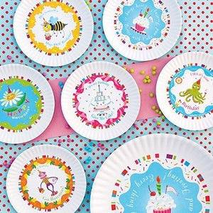 Fun Birthday Melamine Plates ~ Hap-BEE Birthday
