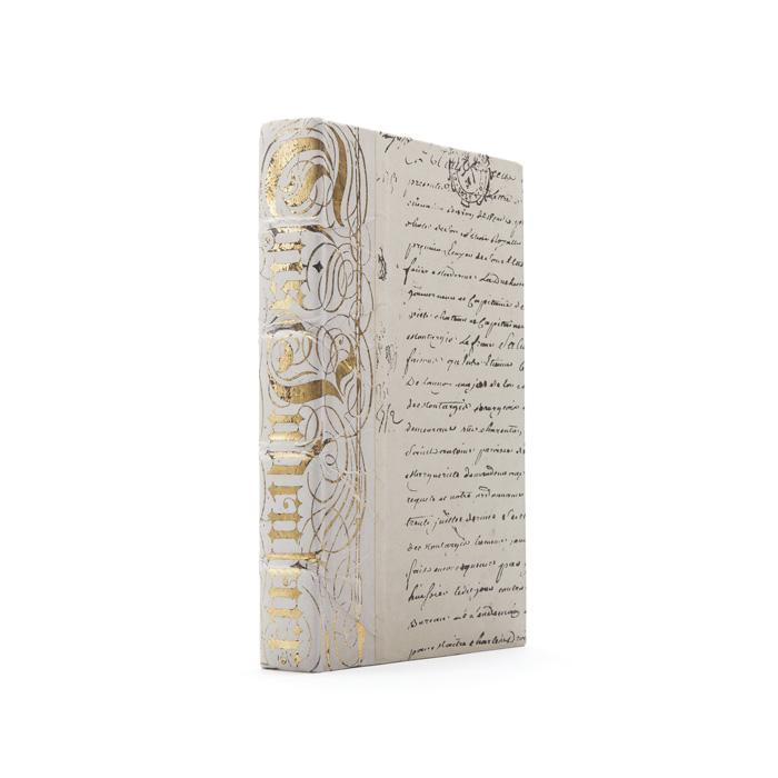 Ivory Bold Gold Leaf Book