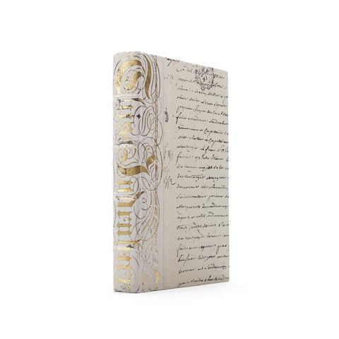 Ivory Bold Gold Leaf Book - Cece & Me - Home and Gifts