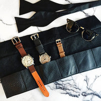 Leather Obi Watch Roll ~ Black - Cece & Me - Home and Gifts - 4