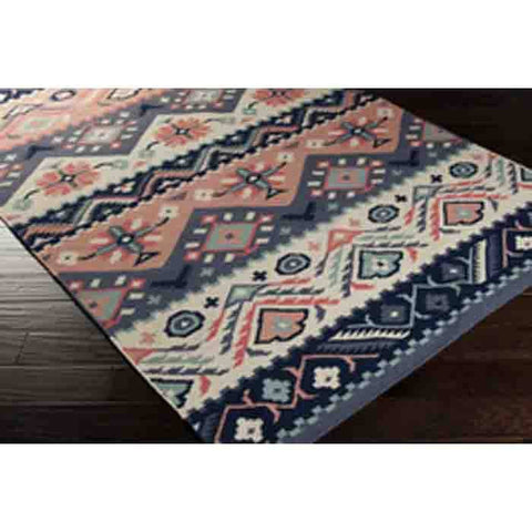 Jewel Tone Rug ~ Navy/Rose - Cece & Me - Home and Gifts