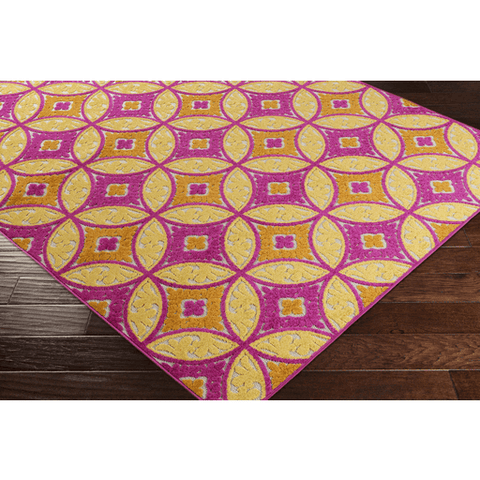 Joblin Rug ~ Bright Pink/Bright Yellow/Saffron - Cece & Me - Home and Gifts