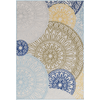 Jollye Rug ~ Blue/Bright Yellow/Olive