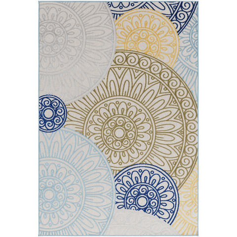 Jollye Rug ~ Blue/Bright Yellow/Olive - Cece & Me - Home and Gifts