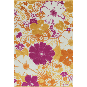 Jollye Rug ~ Bright Yellow/Saffron/Bright Pink - Cece & Me - Home and Gifts