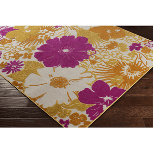 Jollye Rug ~ Bright Yellow/Saffron/Bright Pink
