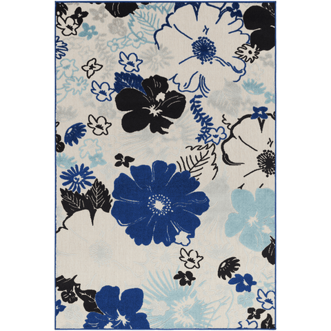 Image of Jollye Rug ~ Dark Blue/Aqua/Light Gray - Cece & Me - Home and Gifts