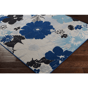 Jollye Rug ~ Dark Blue/Aqua/Light Gray
