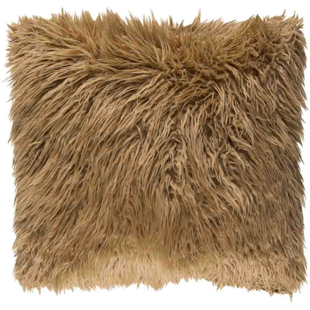 Kharaa Fur Pillow ~ Camel - Cece & Me - Home and Gifts