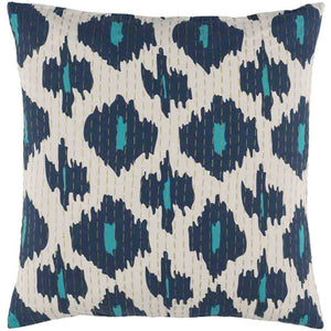 Kantha Pillow ~ Teal - Cece & Me - Home and Gifts