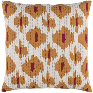 Kantha Pillow ~ Orange - Cece & Me - Home and Gifts