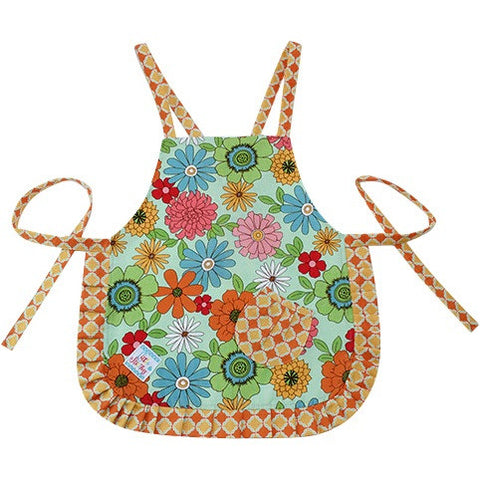Image of Cute Orange & Flower Power Apron - Cece & Me - Home and Gifts