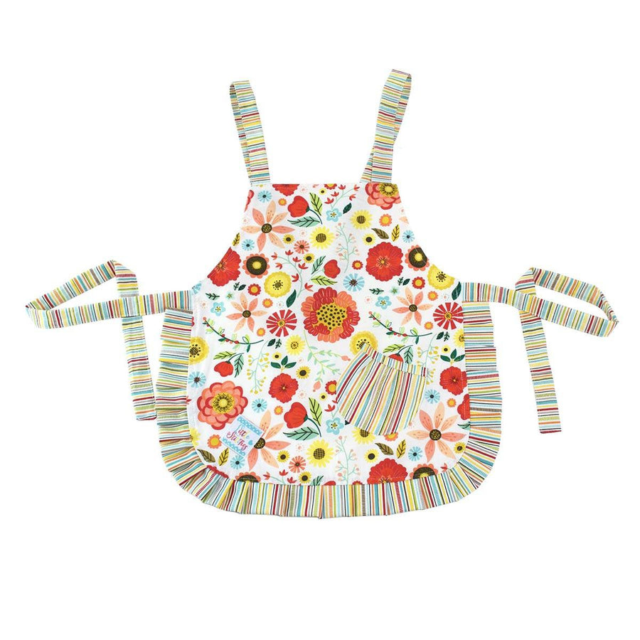Cute Rainbow of Flowers Kids Apron - Cece & Me - Home and Gifts