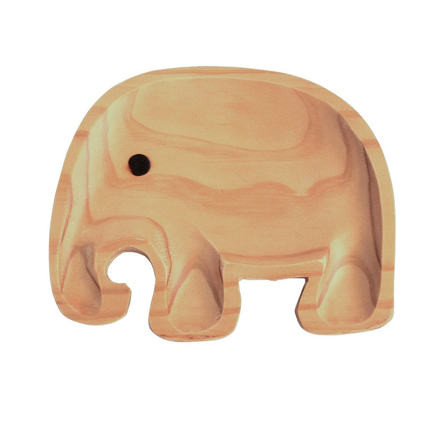 Wooden Plate Gift Set ~ Elephant