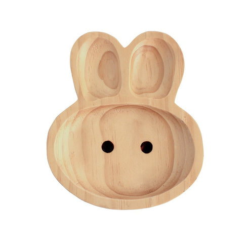 Image of Kids Wooden Plate Gift Set ~ Rabbit - Cece & Me - Home and Gifts