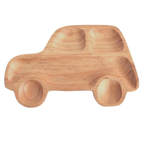 Image of Kids Wooden Plate ~ Car - Cece & Me - Home and Gifts