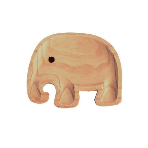 Image of Kids Wooden Plate ~ Elephant Jr. - Cece & Me - Home and Gifts