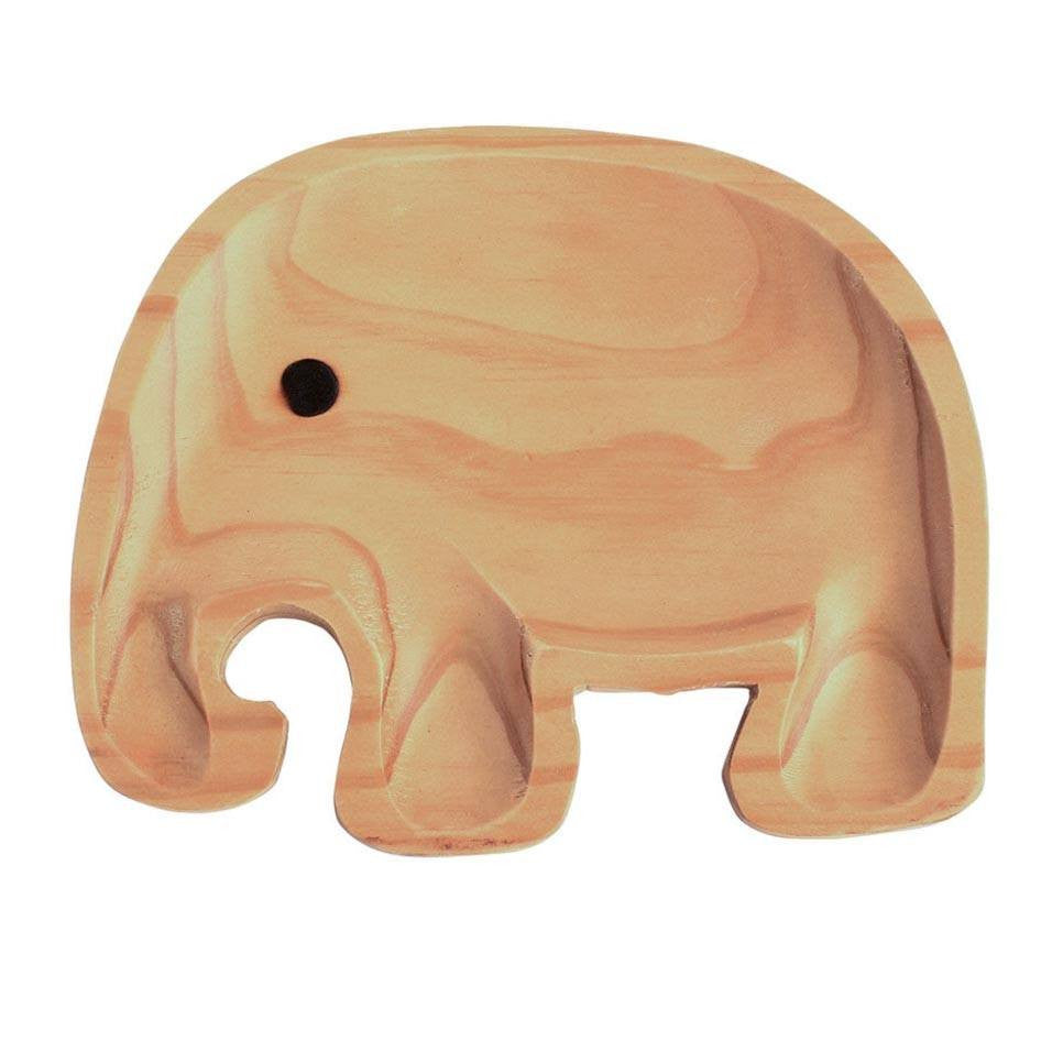 Kids Wooden Plate ~ Elephant - Cece & Me - Home and Gifts