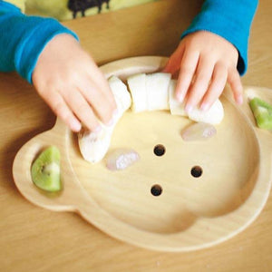 Kids Wooden Plate ~ Cat