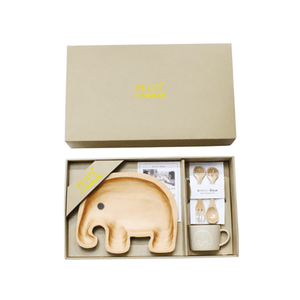 Wooden Plate Gift Set ~ Elephant - Cece & Me - Home and Gifts