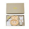Kids Wooden Plate Gift Set ~ Rabbit - Cece & Me - Home and Gifts