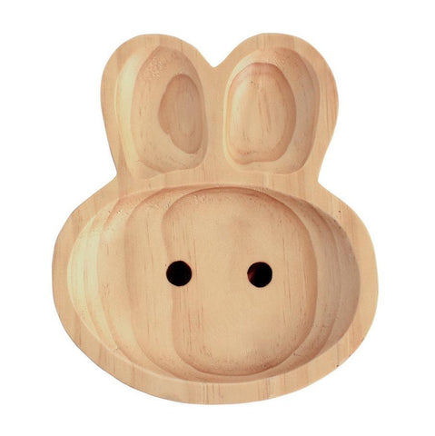 Image of Kids Wooden Plate ~ Rabbit - Cece & Me - Home and Gifts