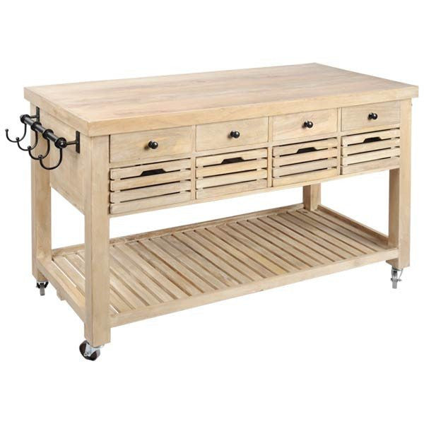 Kitchen Butcher Block Station - Cece & Me - Home and Gifts