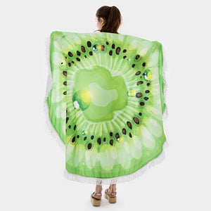 Kiwi Round Beach Terry Towel