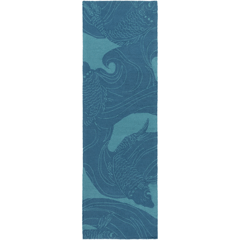 Image of Koi Rug ~ Aqua & Beige - Cece & Me - Home and Gifts