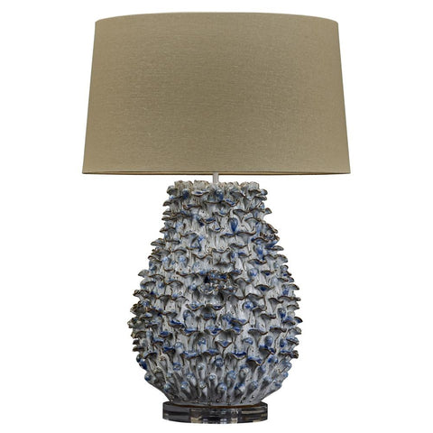 Blue and White Coral Ceramic Lamp - Cece & Me - Home and Gifts