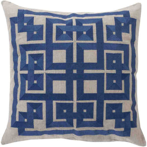 Gramercy Pillow ~ Navy & Light Gray - Cece & Me - Home and Gifts
