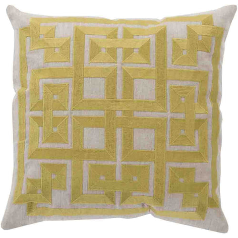 Image of Gramercy Pillow ~ Lime & Light Gray - Cece & Me - Home and Gifts